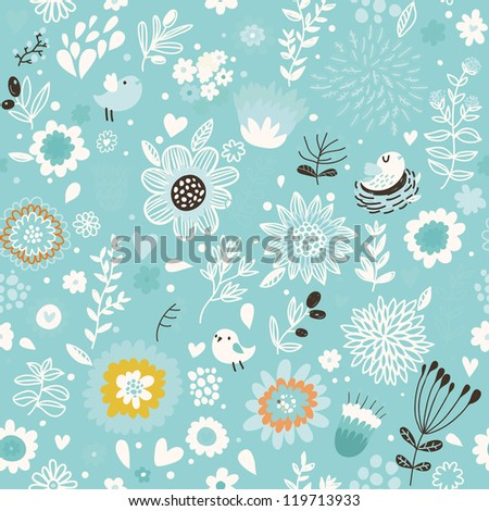 Stylish floral seamless pattern for wedding backgrounds - stock vector