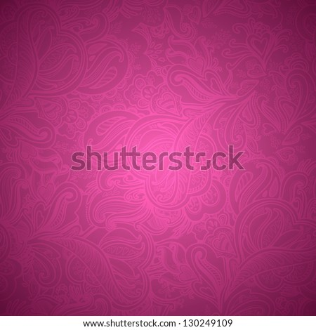 Stylish floral seamless vector background