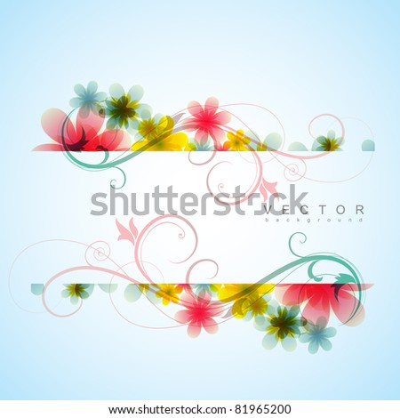 stylish flower background with space for your text