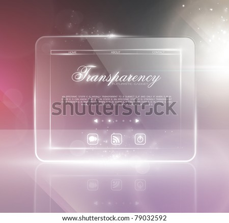 Stylish futuristic minimal design with huge space for information. Fully editable. - stock vector