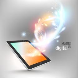 stylish futuristic tablet concept design