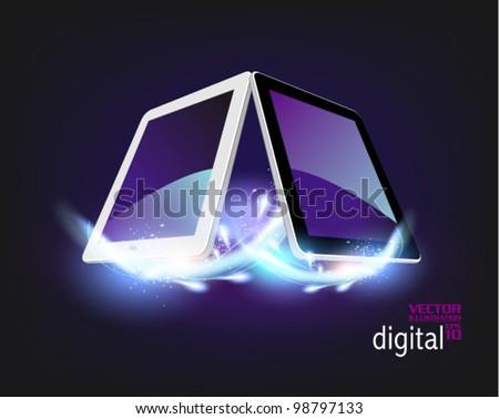 stylish futuristic tablet concept design - stock vector
