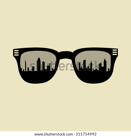 stylish glasses with outlines