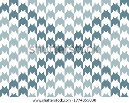 Stylish goose foot. Pattern of gray and white crow's feet. Dark gray diagonal. Vector illustration. Stock fotó ©