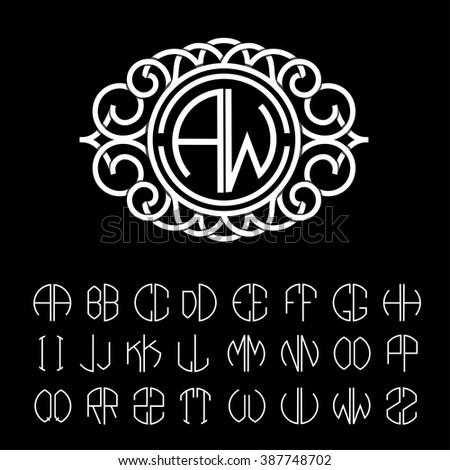 stylish  graceful monogram made