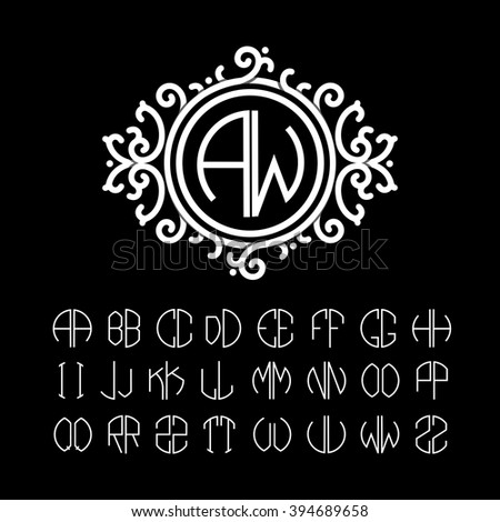 stylish  graceful monogram made