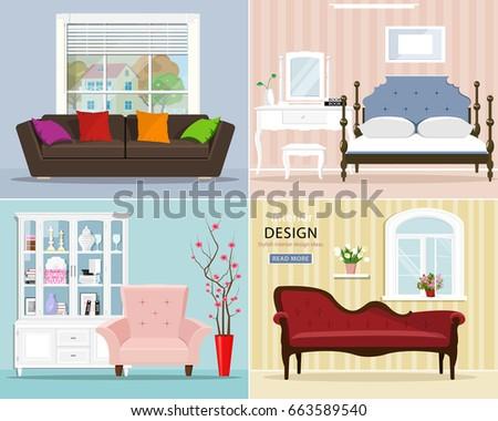 stylish graphic room set
