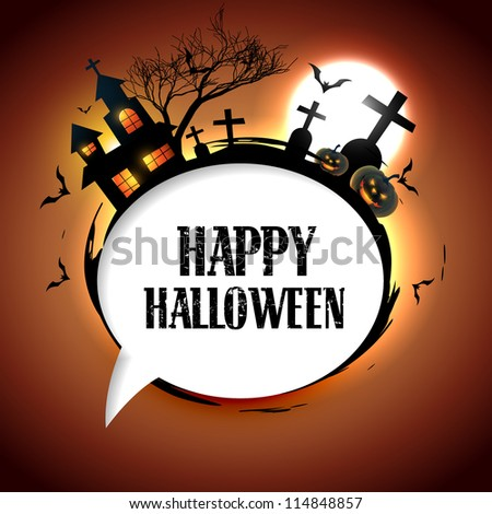 stylish halloween vector design with space for text