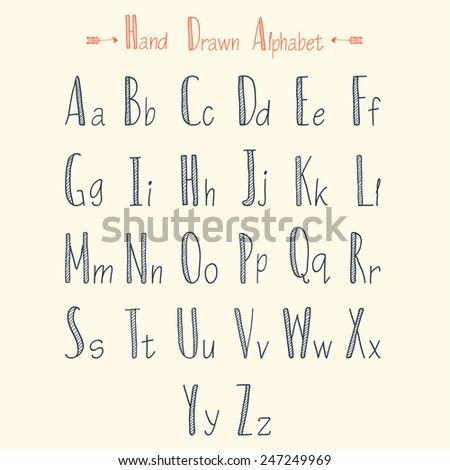 Stylish Alphabets Writing Stylish Hand Drawn Alphabet