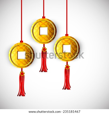 stylish hanging coins of china