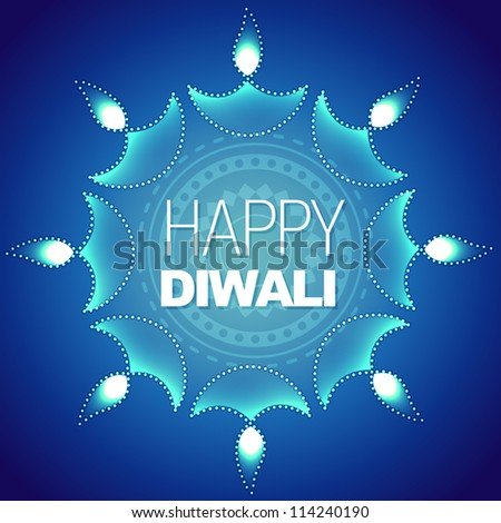 stylish happy diwali vector background