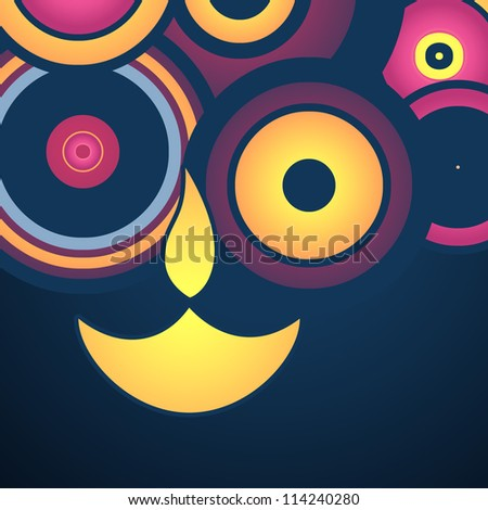 stylish happy diwali vector background - stock vector