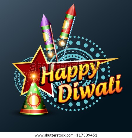 stylish happy diwali vector design illustration