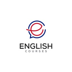 stylish & iconic logo for english Courses online.