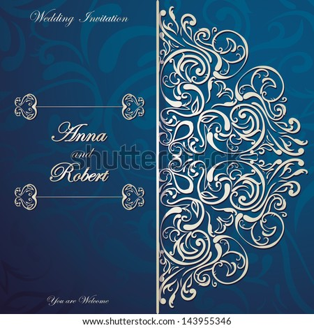 stylish invitation card with