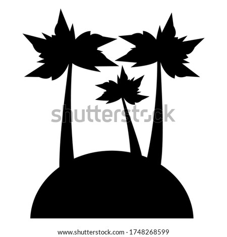 stylish isolated image of three