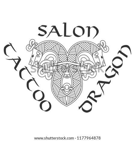 Stylish logo for tattoo studio. Imagine de stoc ©