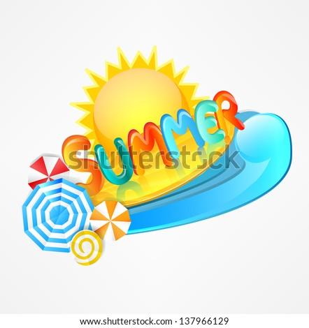 stylish logo of summer