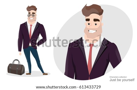 stylish man in business suit