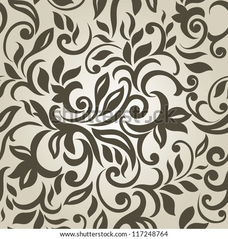 Stylish Modern Abstract background with floral seamless pattern.
