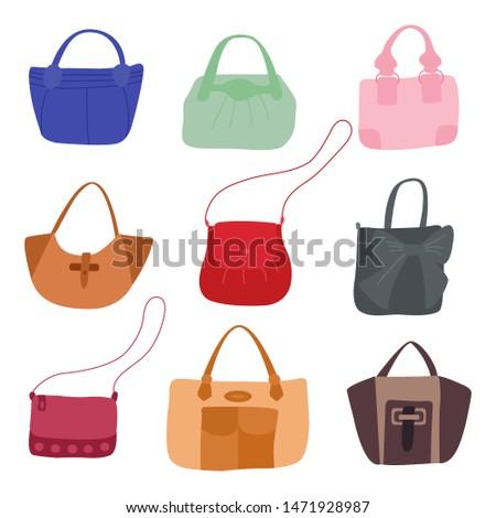 Stylish modern handbags vector illustration