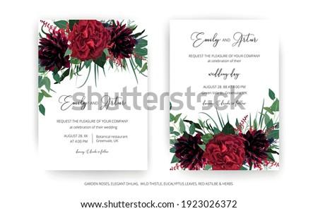 stylish modern wedding invite