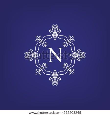 stylish monogram design
