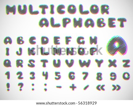 Stylish Alphabets Writing Stylish Multicolor Alphabet