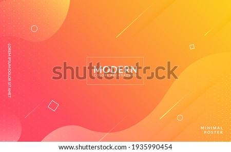 Stylish orange and yellow fluid gradient background