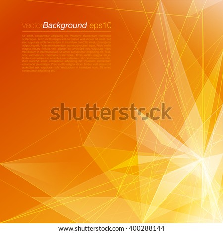stylish orange modern polygonal