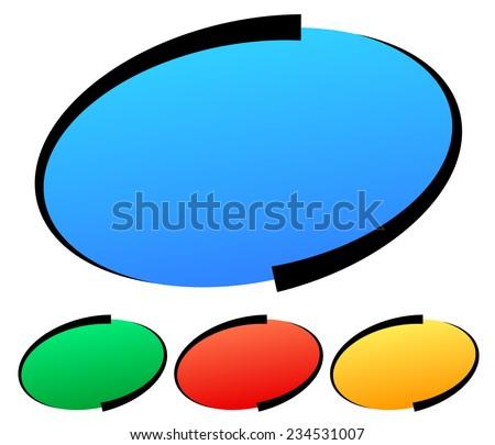Stylish oval elements