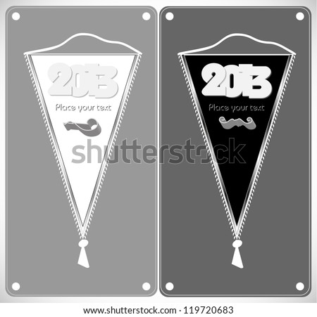 Stylish pennants withs a wish for the new year. Happy new year