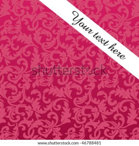 Stylish, pink, baroque card Foto stock ©