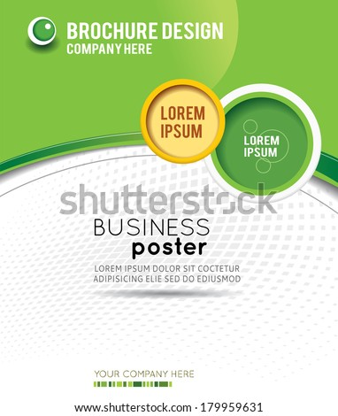 Stylish presentation of business poster magazine cover design layout template