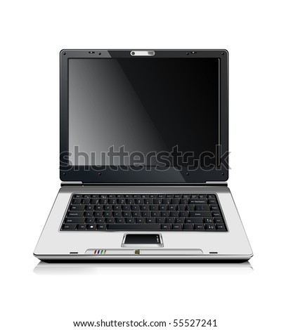 Stylish professional icon of the laptop for your site.