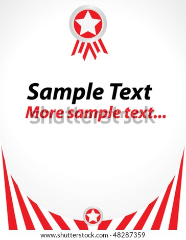 stylish red award template