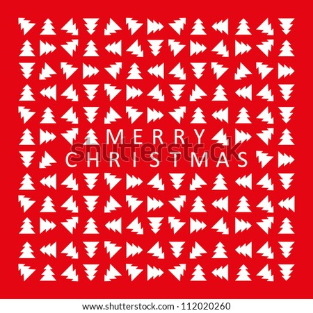 Stylish red christmas card. Vector illustration