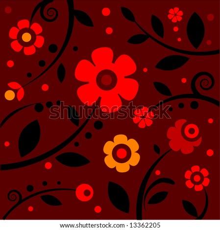 stylish red pattern