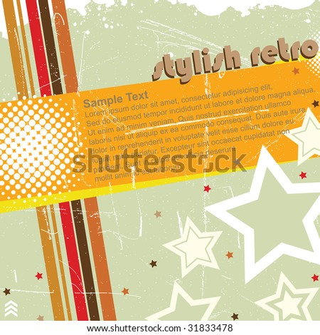 Stylish Retro Banner - stock vector