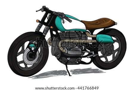 stylish retro cafe racer custom
