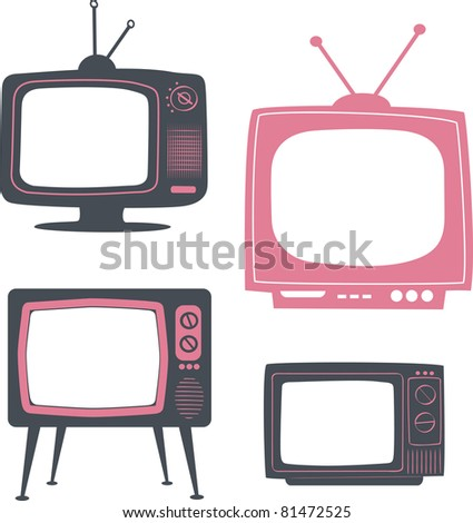 stylish retro tv set