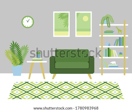 stylish room interior with a