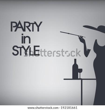 stylish 60s party invitation