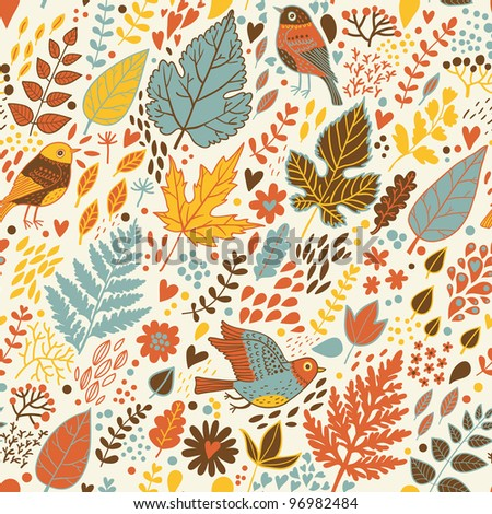 Stylish seamless pattern in retro style