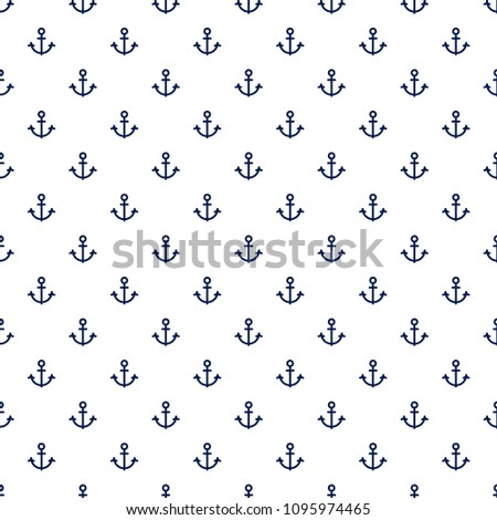 Stylish seamless pattern with anchors. Excellent illustration for printing on clothing, fabric, paper, wallpaper and other surfaces.