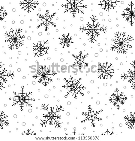 Stylish seamless snowflake pattern