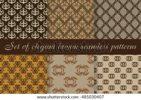 stylish set of elegant brown
