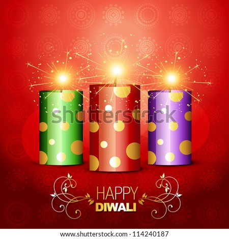 stylish shiny vector diwali cracker
