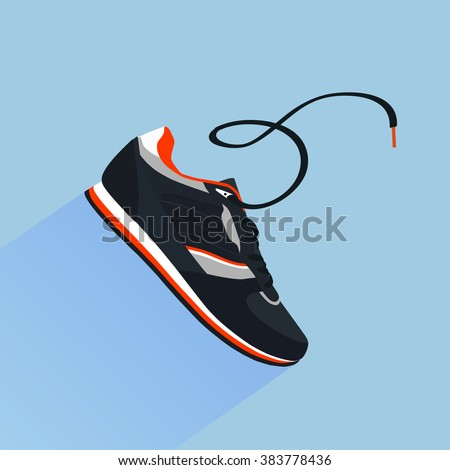 Stylish shoes for running. vector