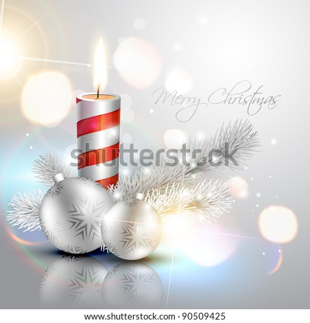 stylish silver christmas vector